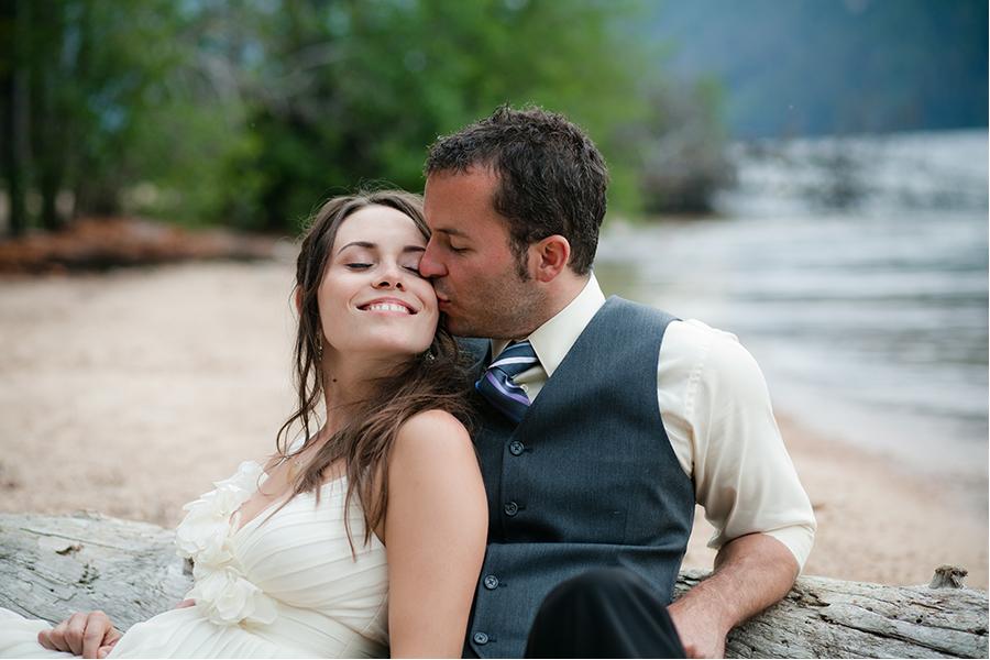 Redfish lake Idaho wedding